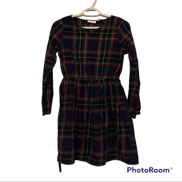 NWT- Children's Place- Christmas Plaid Dress- Sz-L